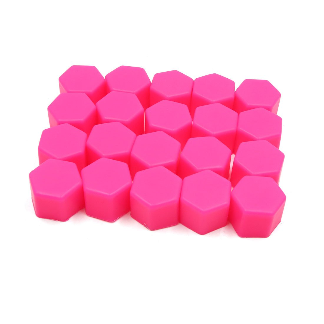 uxcell 20pcs 21mm Rubber Car Wheel Tire Nut Screw Lug Dust Cover Caps Hub Protector Pink a18042000ux0118