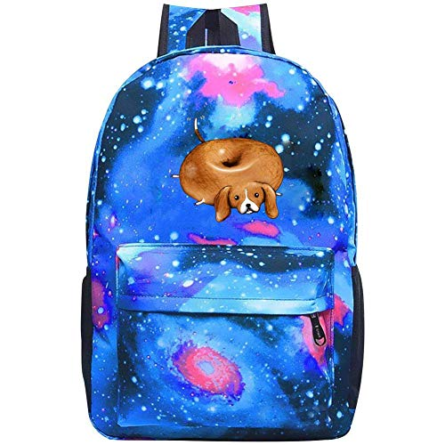 (COBOBT Funny Bagel Galaxy School Backpacks Bookbags Daypack Shoulder School Bag Laptop,Unisex Fashion Large Capacity Casual Travel Bag)