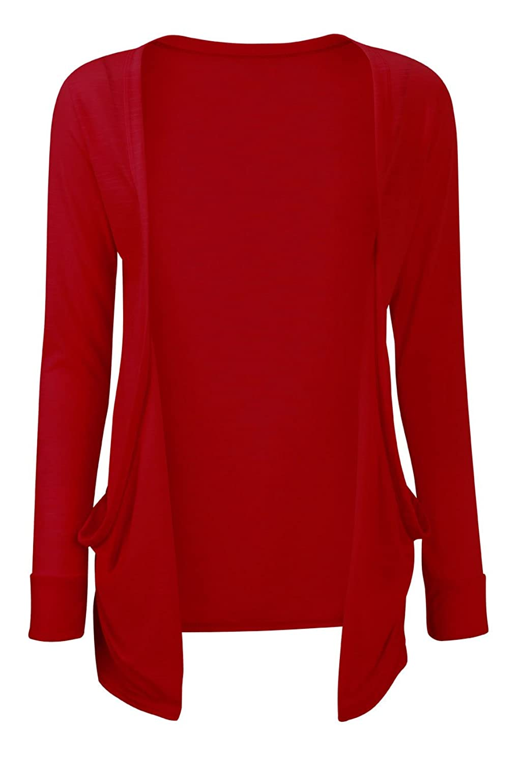 Ladies' Boyfriend Cardigan with Pockets in RED: Amazon.co.uk: Clothing