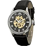 Sewor Lover's Automatic Mechanical Leather Wrist Watch For Women C1112