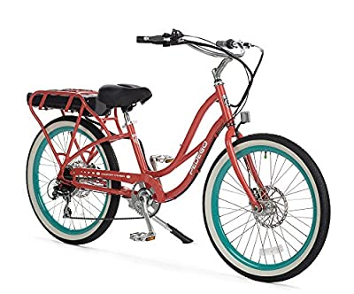 """Pedego Comfort Cruiser 24"""" Coral with Black Balloon Package 36V 10Ah"""