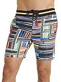 Robert Graham Men's cullies Woven Swimwear, Multi, 36