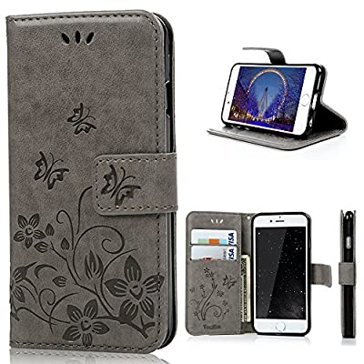 iPhone 6 Leather Case - YOKIRIN Flowers Pattern Leather PU Case