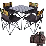 Kalwason Baby Kids Camping Chairs and Table – Lightweight Portable Folding Chairs with a Carry Bag for Family Camping Trip, Beach, Backpacking & Picnic, 16lbs Weight