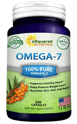 - Purified Omega 7 Fatty Acids - 200 Capsules - from Natural Sea Buckthorn, XL Vitamin Supplement, No Fish Burp, Omega-7 Palmitoleic Acid, Compare to Omega 3 6 9 for Complete Weight Loss Results!