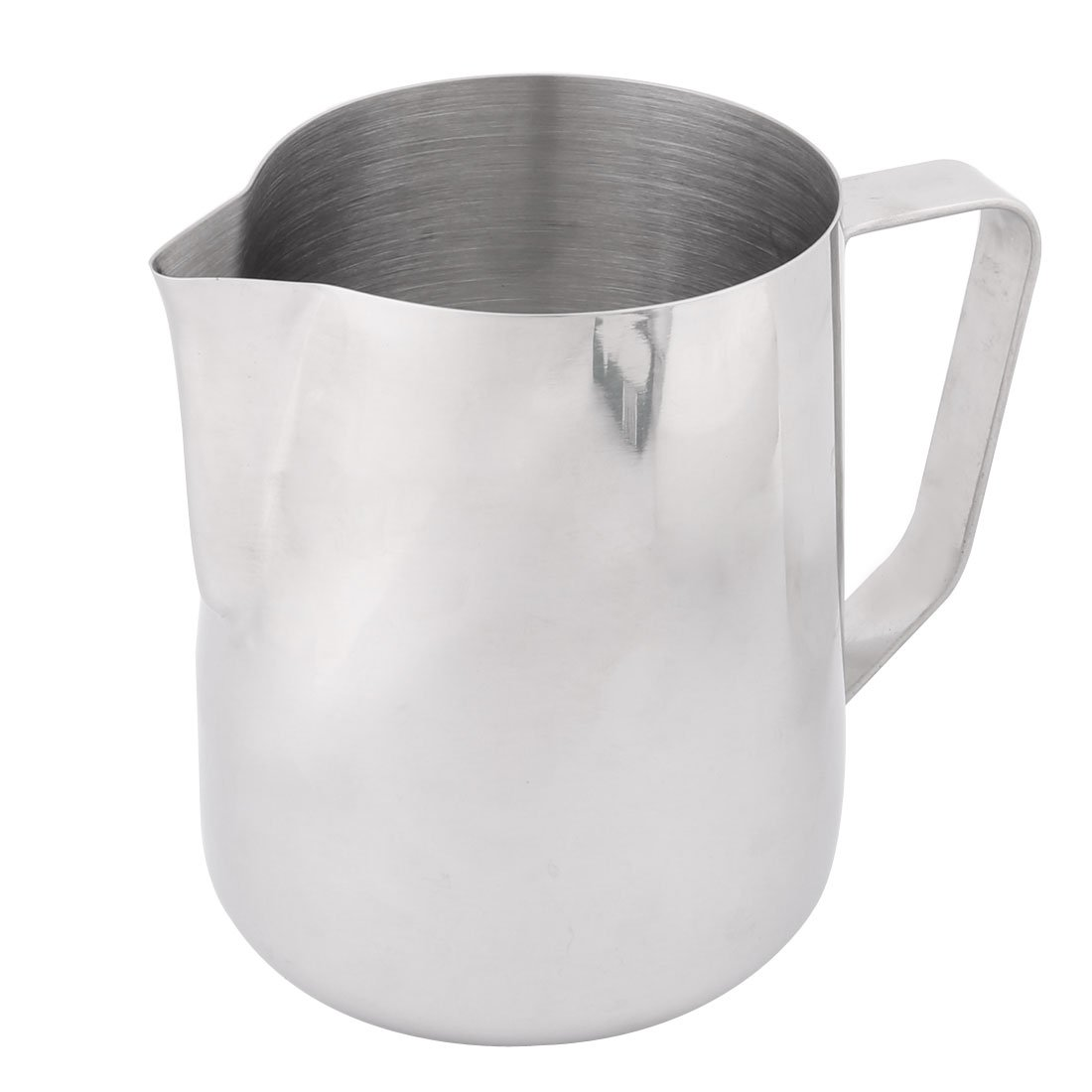 uxcell Metal Household Cafe Milk Tea Coffee Pouring Kettle Pot Container 1000ml Silver Tone a16122200ux0521