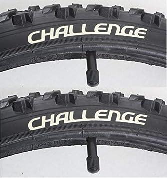 Challenge 50-559 - Cubiertas para Bicicleta de montaña (2 Unidades, Incluye cámara de Aire de 26