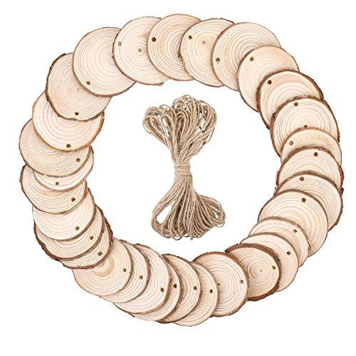 Diameter Full Circle Wood (SOLEDI Natural Wood Slices 30 PCS 2.4