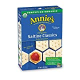 Annie's Organic Saltine Classic, Baked Crackers, 6.5 oz., Pack of 6