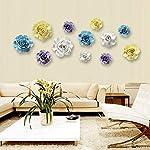 ALYCASO-3D-Rose-Wall-Flower-Decoration-for-Living-Room-Bedroom-Hanging-Ceramic-Flower-Pediments-Sculpture-Blue-433-inch