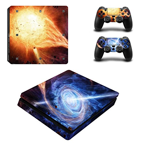 Laixing Ultra thin Skin Sticker Cover per PlayStation PS4slim Console+Controllers 0010#