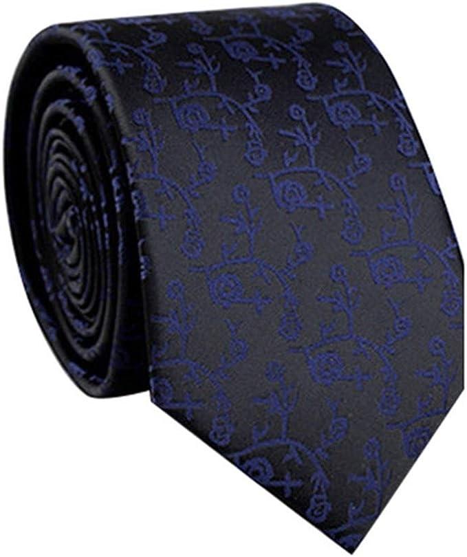 WJYX Corbata Corbata de lazo para hombre Corbata delgada Corbata ...