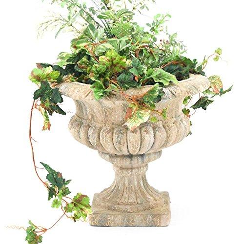 Rustic Urn - Round Planter Outdoor Indoor Rustic Patio Deck Garden Flower Planters Urn