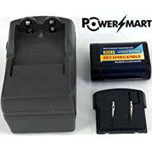 PowerSmart Charger WITH R2CR5 rechargeable battery for NIKON 2CR5, DL245, Nikon F50, Nikon F50D