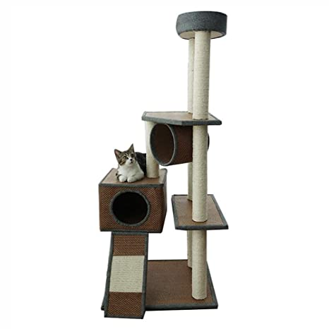 Árboles para gatos Multi-Level Cat Tree Condo Cat Tower con rasguños, Muebles de