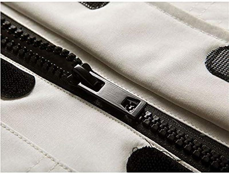 LDH płaszcz zimowy męski, gruby kołnierz futrzany kurtka męska kurtka puchowa para odzież zimowa męska kurtka z kapturem biała Duck Down Tooling kurtka zdejmowana czapka (kolor: czarny, rozm