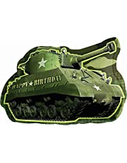amscan Camouflage Birthday Army Tank Super Shape Foil Balloon