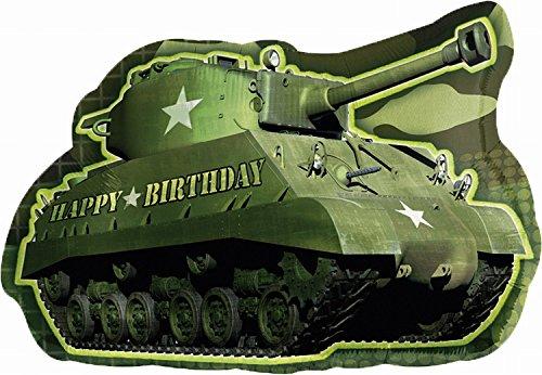 Anagram International Army Tank Birthday Shape Pack, -