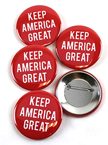 (Keep America Great Political Campaign Pinback Buttons - 2.25 Inch Round - 5 Pack)