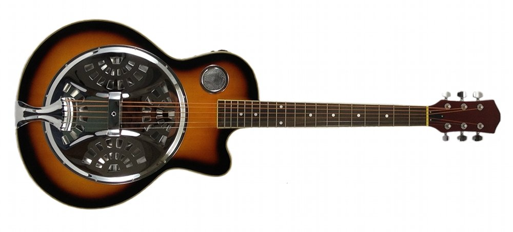 RESONATOR GUITAR Acoustic-Electric SEPELE SPRUCE Single Cutaway Steel Pan Blues EDMBG