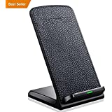 iPhone X Wireless Charger, Qi Fast Wireless Charger Charging Pad for IPhone 8/8 Plus,Samsung Galaxy Note 8 S8 S8 Plus S7 S7 Edge Note 5 S6 Edge Plus and other Smartphone devices【No AC Adapter】