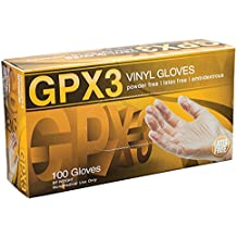 AMMEX - GPX3 - Vinyl Gloves - 100/box, Disposable, Powder Free, Industrial Grade, Food Safe, 3 mil, Clear