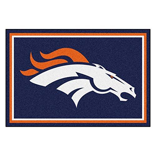 FANMATS NFL Denver Broncos Nylon Face 5X8 Plush Rug ()