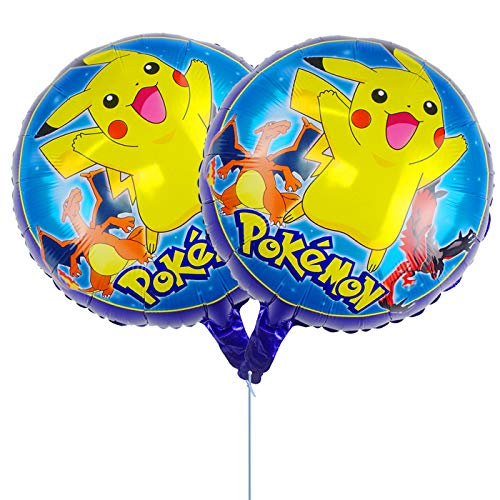 Tuoyi Pikachu Foil Balloons Party Supplies, 2pcs Pikachu Balloons Birthday Party Decorations for Pokemon Enthusiasts -