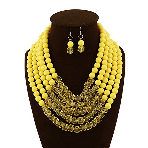 Sitong 5-Layer Yellow Pearl Necklace Bubble Necklace Illu...