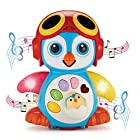 Singing Dancing Penguin Baby Toy – Sounds and Lights – Bump and Go Walking and Waving – Music, Story and Learning Modes – Colorful, Interactive, Educational – by ToyThrill