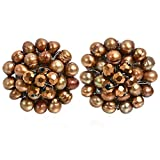Golden Elegance Cultured Freshwater Dyed Pearls Chrysanthemum Clip On Earrings