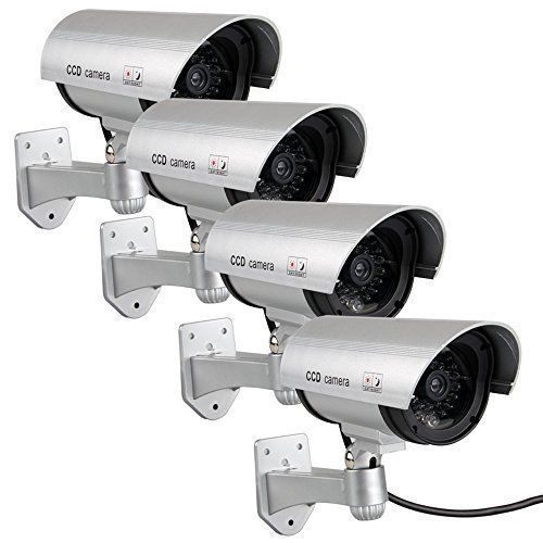 4-pack-waterproof-dummy-fake-surveillance-security-cctv-dome-camera-with-record-led-light-indoor-out