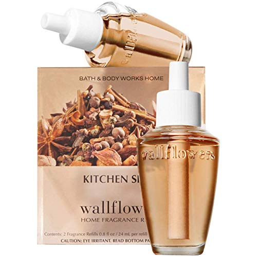 (Bath & Body Works Kitchen Spice Wallflowers Home Fragrance Refills, 2-Pack (1.6 fl oz total))