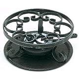 Nmc - r0019.va - Réchaud à fondue en fer forgé 23cm noir