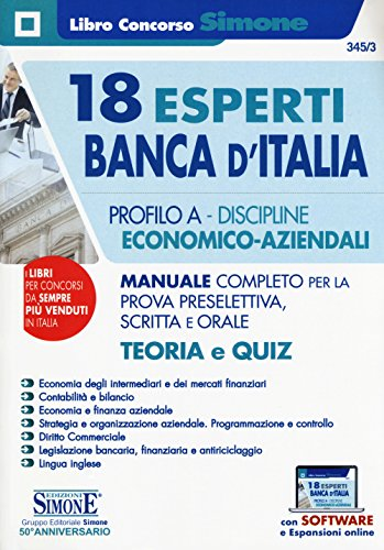 Scaricare 18 Esperti Banca Ditalia Profilo A Discipline