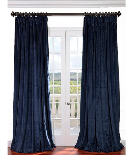 Curtains Ideas blue velvet curtains : Blue Velvet Drapes: Amazon.com