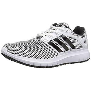 Adidas Men's Energy Cloud m Running Shoe, White/Black/Black, 10 Medium US