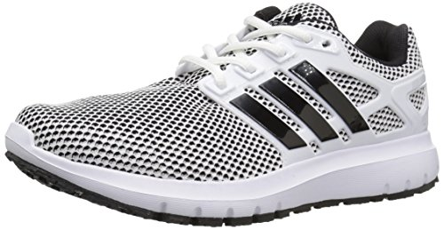 adidas Performance Men's Energy Cloud m Running Shoe, White/Black/Black, 11 Medium US