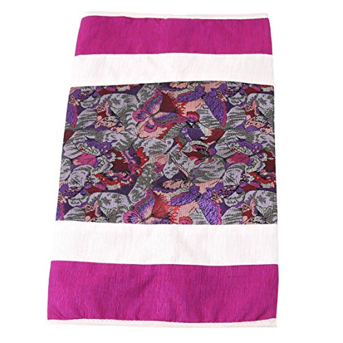 Rurah Cloth Napkin Paper Bag Holder Facial Tissue Box Cover Paper Storage Box Napkin Container Dispener Cover Case for Home Car Bathroom,purple
