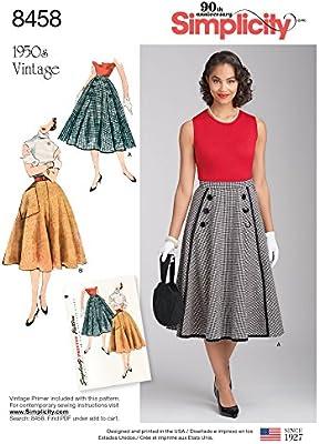 Simplicity Vintage - Patrones de costura para faldas y pantalones ...