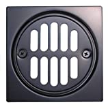 Floor Drain, Brass-built, Tile-square, Oil Rubbed Bronze Finish - By Plumb USA