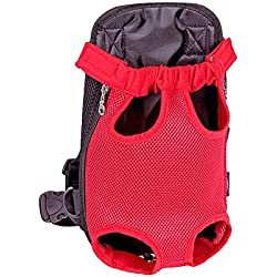 Onebook Pet Carrier Backpack Hands-Free Adjustable Pet Front Cat Dog Carrier Backpack Legs Out Front-Facing Puppy Carrier for Walking Travel Hiking Camping