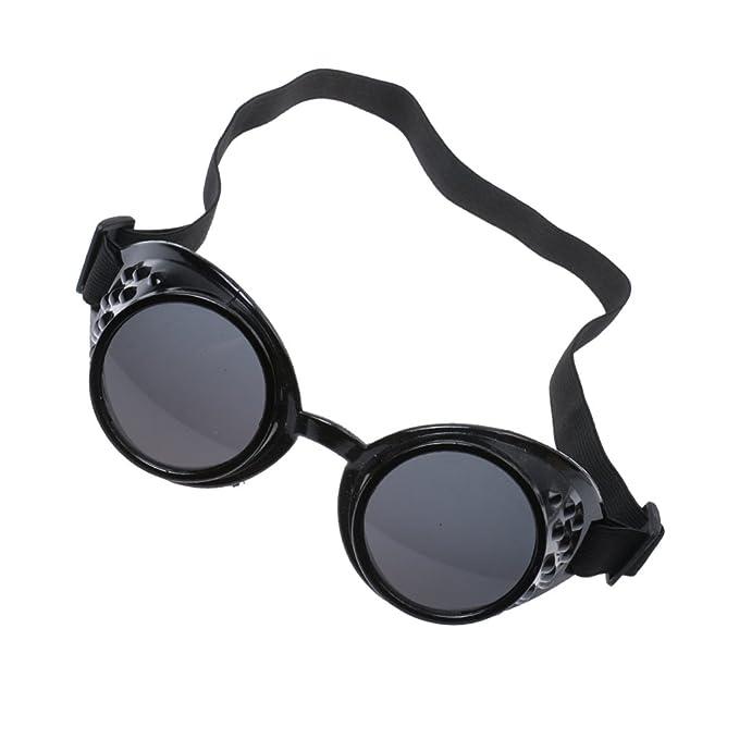 Steampunk Gafas Gafas De Soldadura Cosplay Gótica De Plata Antigua Del Traje - Negro, /: Amazon.es: Ropa y accesorios