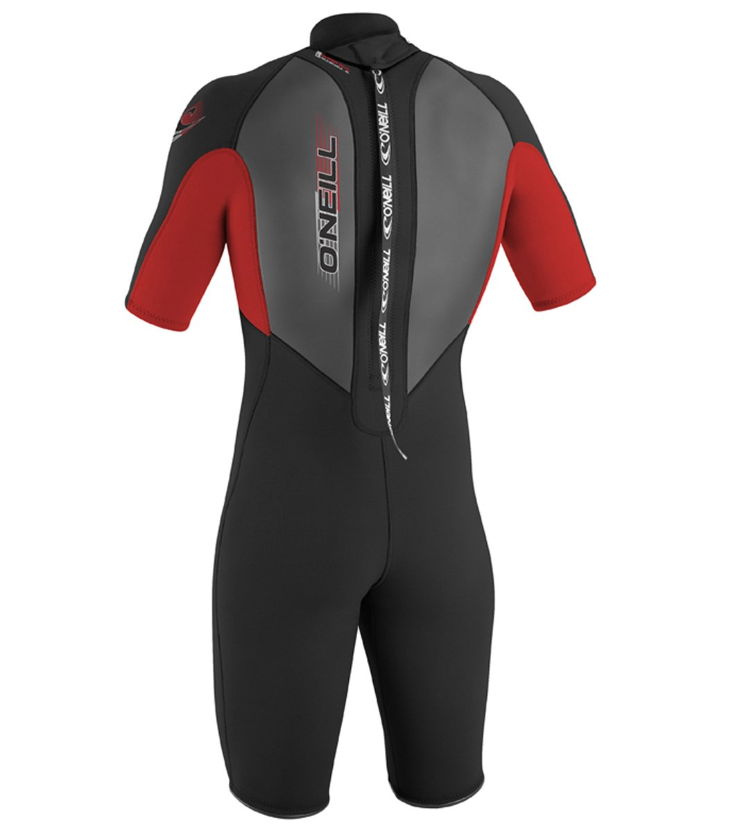 O'Neill Youth Reactor 2mm Back Zip Spring Wetsuit, Black/Red/Black, 4 by O'Neill Wetsuits (Image #2)