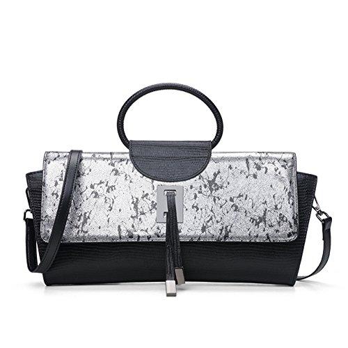 CLELO Fashion Women's Pure Color Leather purse Tote Shoulder handbag (Purs And Handbag Patterns)