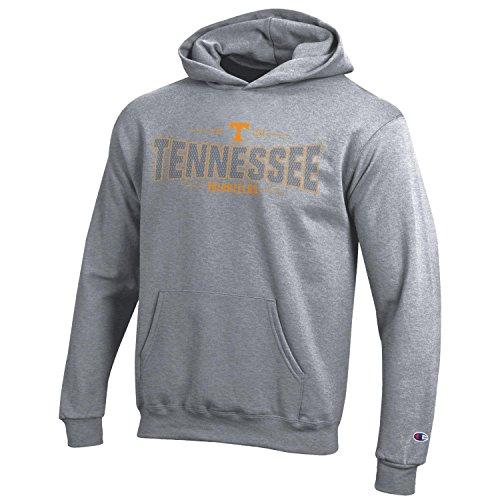 (Champion NCAA Youth Long Sleeve Fleece Hoodie Boy's Collegiate Sweatshirt Tennessee Volunteers Small)