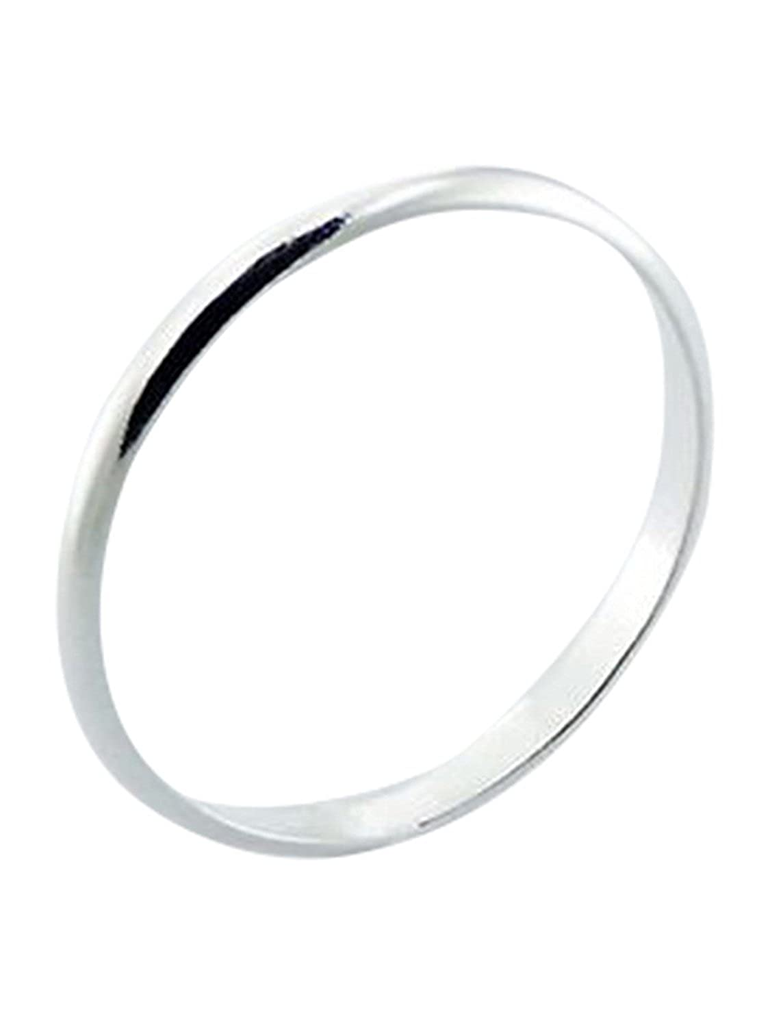 Sterling Silver Ring 2mm Band In Sizes G,H,I,J,K,L,M,N,O,P,Q,R,S,T,U,V,W,X,Y,Z Red Crimson 049