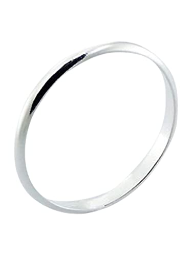 Sterling Silver Ring 4mm Band In Sizes G,H,I,J,K,L,M,N,O,P,Q,R,S,T,U,V,W,X,Y,Z