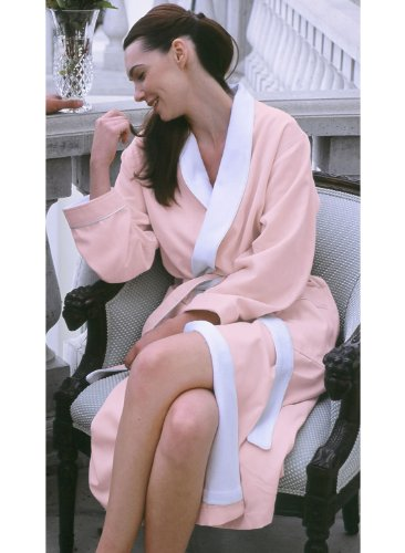 Luxury Spa Robe - Microfiber with Cotton Terry Lining, Pink, XXX-Large by Plush Necessities (Image #7)