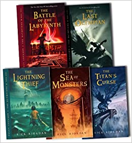 Percy Jackson and the Olympians Collection Rick Riordan 5 Books Set Pack RRP:...: Amazon.es: Libros